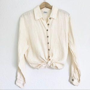 Vintage Linen Button Down